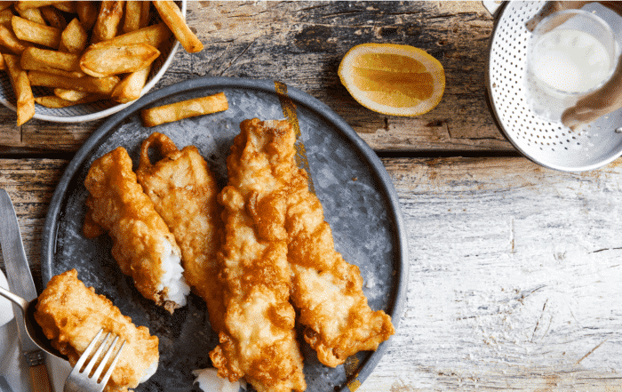 hake and chips recipe